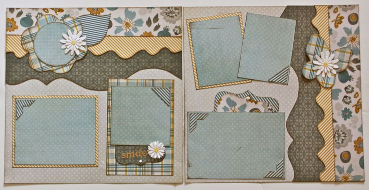 Two Page Layouts | Kiwi Lane Designs I love the papers used in this!