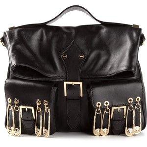 Versace Silver Metallic Leather Satchel from Overstock.com ...