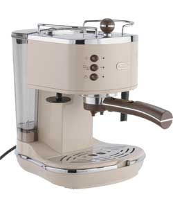 De'Longhi ECOV310BG Vintage Espresso Coffee Machine - Cream.
