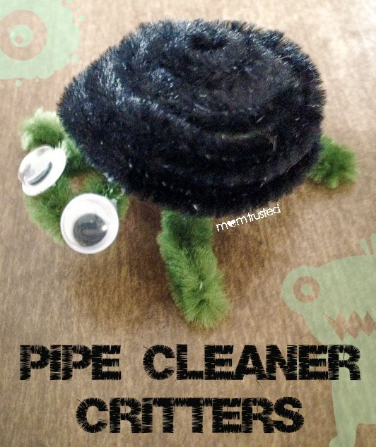 Pipe cleaner critters by MomTrusted_com. Easy crafts for kids to do after school.  First, make sure they got home safely with alerts from #Chamberlain #MyQ