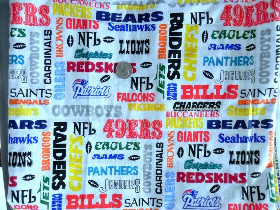 NFL football fabric  names of teams  1994 by SewVintageRooster, $9.00
