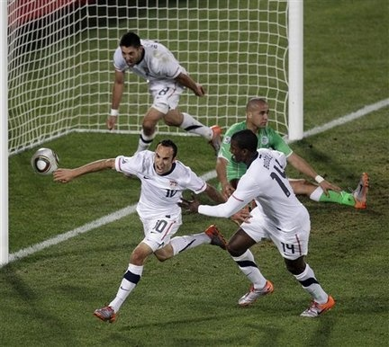 Landon Donovan's game winning goal against Algeria in the 2010 World Cup.