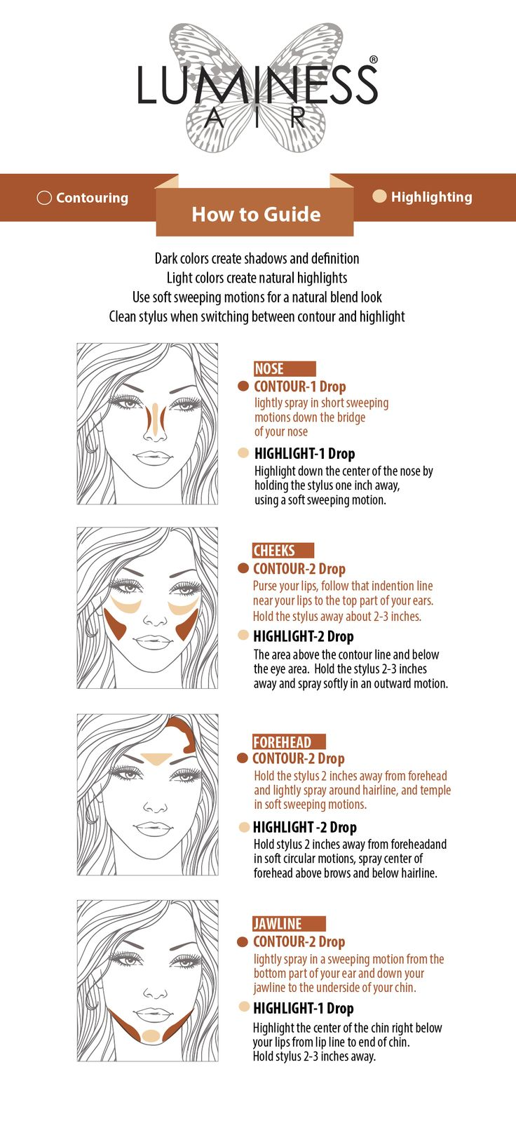 Flatter Your Face With These Luminess Air Highlighting U0026 Contouring Tips!