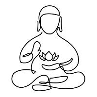 A really nice single line budda holding a lotus... impressive.