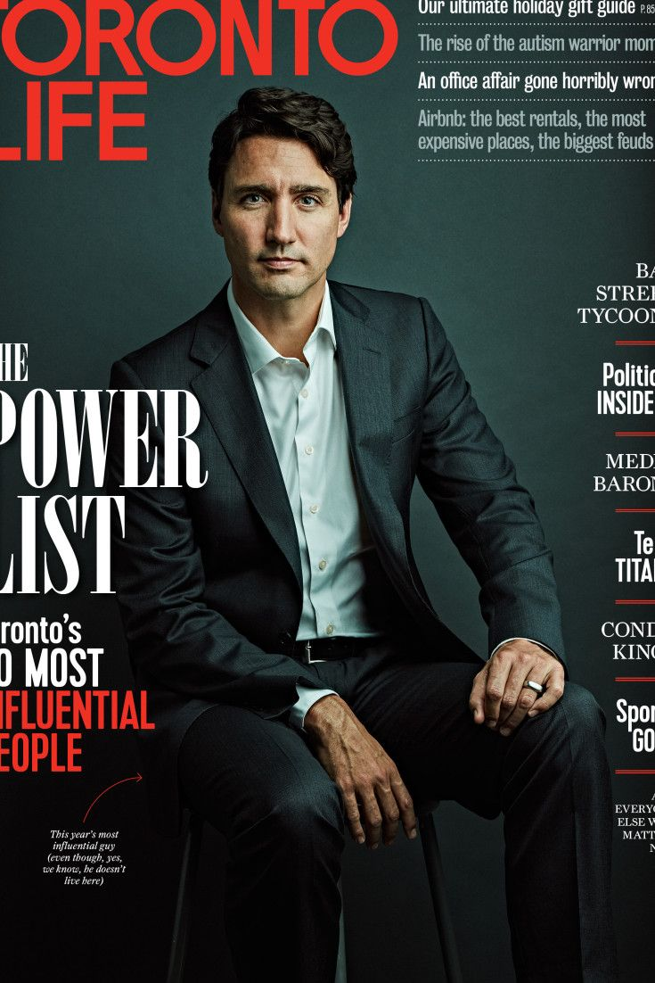 Justin Trudeau Tops Toronto Life Magazine's 2016 Most Influential List
