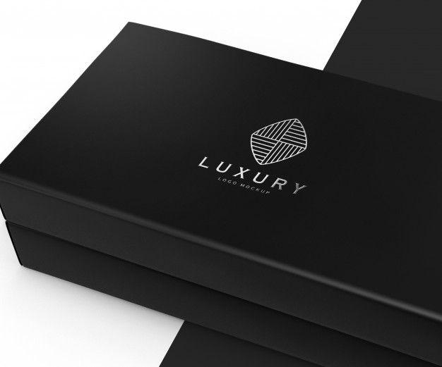 Download Luxury Logo Mockup On Black Box Luxury Logo Logo Mockup Black And White Logos