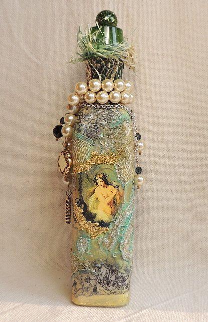 Decorative  Bottle by Montse on Etsy
