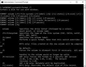 How to Use the Format Command in Windows: Format Command (Windows 10)