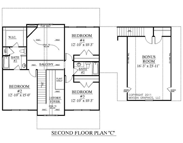 Best 164 Two-Story House Plans Images On Pinterest