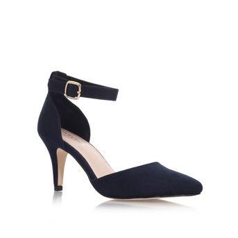 Kandice Navy Mid Heel Sandals from Carvela Kurt Geiger