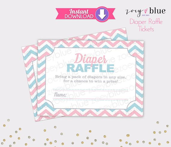 The  Best Raffle Tickets Ideas On   Diaper Raffle