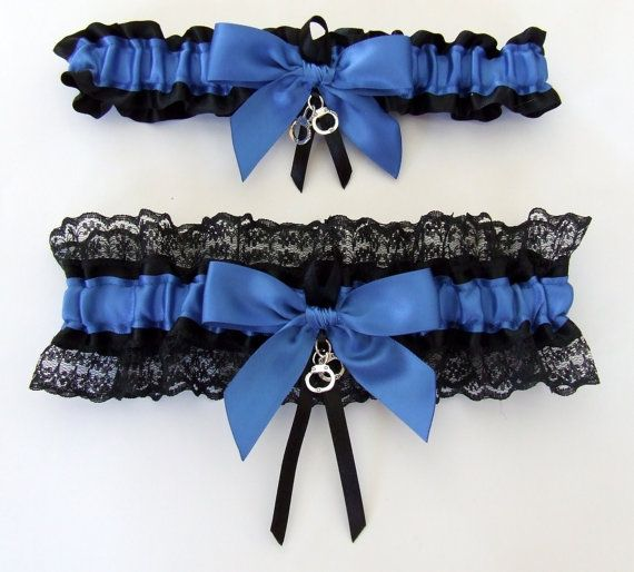 CUSTOM Police Garter Set Deputy Sheriff Cop State Trooper Corrections Correctional Officer Law Enforcement Handcuffs / You Choose the Colors