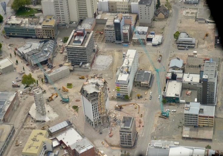 Christchurch CBD, November 2012 (Manchester Street to the right)