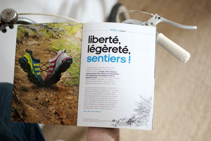 Réalisation du magazine Adidas gamme trail.