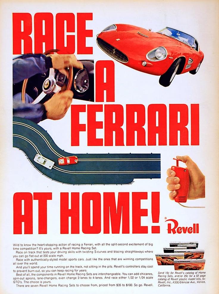 Revell Slot Car, Ferrari Home Racing Set.