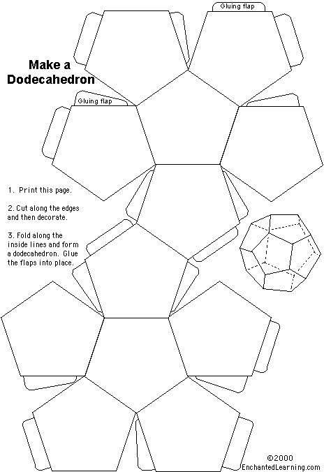 the 25  best dodecahedron template ideas on pinterest