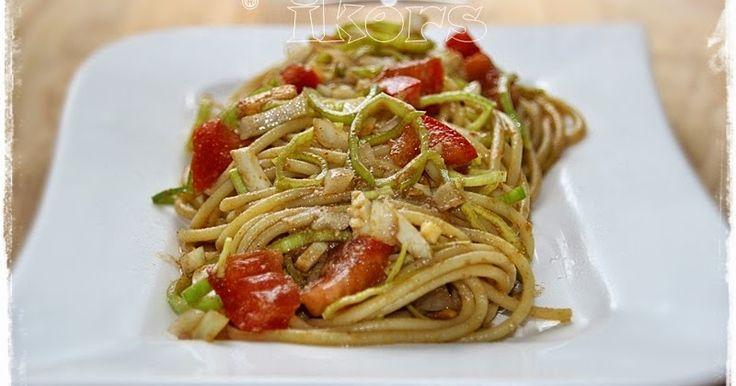 Chinesischer Spaghettisalat (ohne Thermomix) 200 g Spaghetti al dente garen, abschrecken und abkühlen lassen (man könnte sie ...