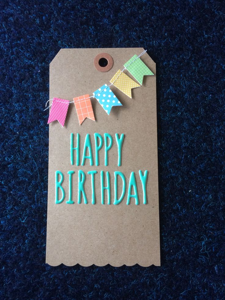Easy Birthday Gift Tag