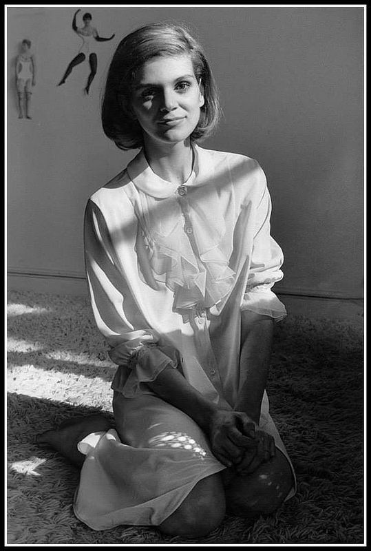 Vera Valdez wearing a nightgown by Chanel Boutique Paris, photographed by Frank Horvat at her apartment in Paris, in 1963. | by skorver1