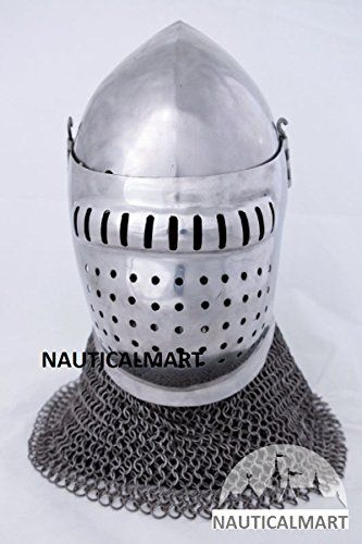 Medieval Grand Bascinet Helm Fighting Version By Nautical... https://www.amazon.com/dp/B06Y486ZS2/ref=cm_sw_r_pi_dp_x_gdr6ybCRZ6MP0