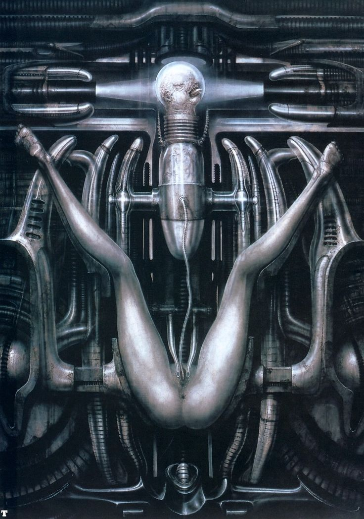 Death Bearing Machine III by H. R. Giger