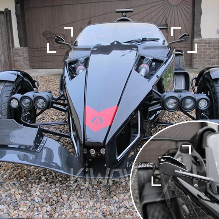 Cleaver rear side view mirrors black left and right wide angle for Ariel Atom #KiWAV #ariel atom