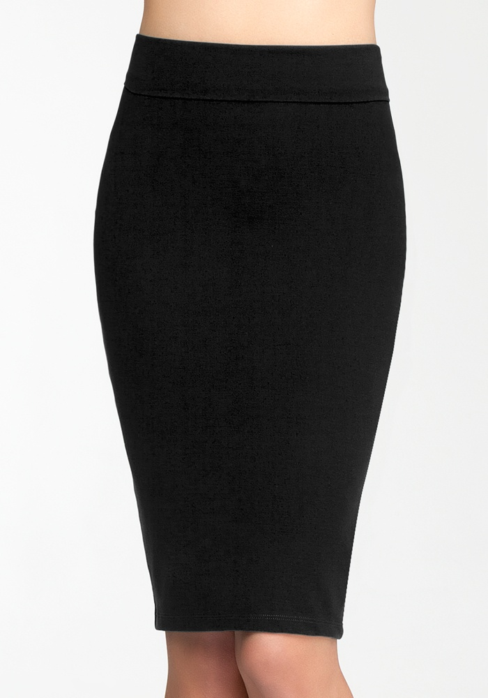 Midi Knit Skirt - Blk - S