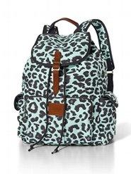 Victoria's Secret PINK Backpack Blue Leopard Print PINKbyVictoriasSecret