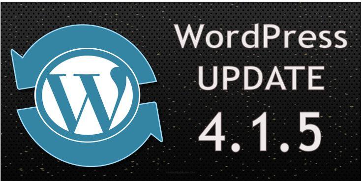 WordPress Update 4.1.5