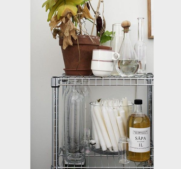 note candles stores in glass vase/hurricane -- from emmas designblogg - design and style from a scandinavian perspective