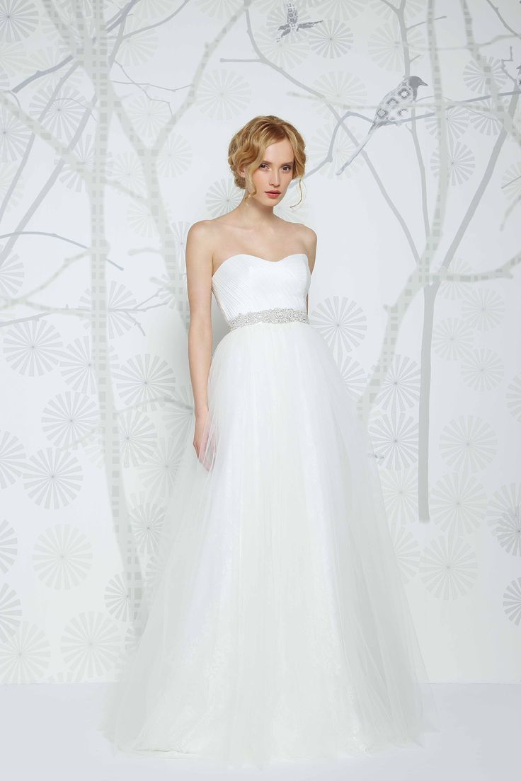 Wow- the gorgeous Eman gown by Sadoni. Hidden lace, delicate sweetheart. What more could you want? Available at Caroline Clark Bridal Boutique, Droitwich