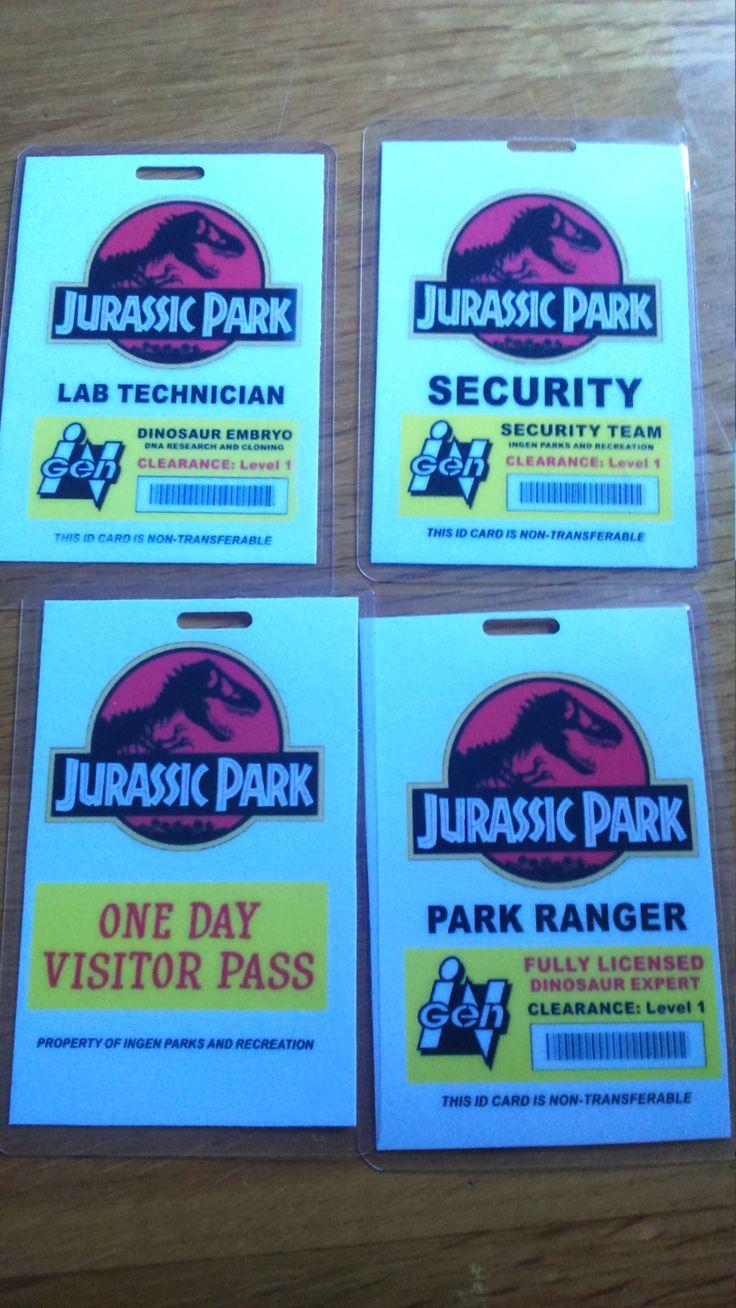 Joke ID Badges, Jurassic Park, Ideal for Cosplayers, Gifts, Secret Santa, Men, Women, Kids, Fancy dress costumes - pinned by pin4etsy.com