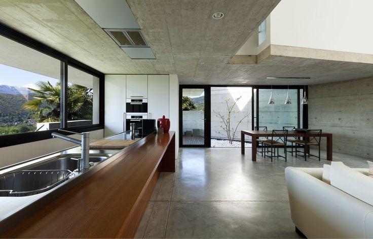 Industriële loft met betonvloer