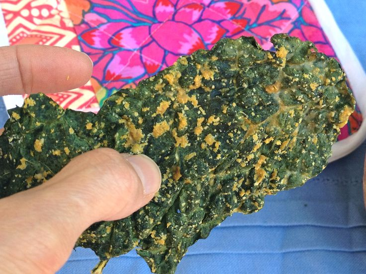 """Solving your """"no-dehydrator"""" kale chip problem!!  No more burned, bitter, nasty-tasting kale chips out of your oven. These kale chips are """"oven-dehydrated"""" so they dry out rather than cook. These are crisp, delicious, and made with a savory, oil-free dressing!  :D"""