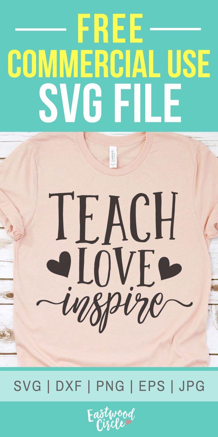 Download Teach Love Inspire svg, Teacher svg, Teacher Appreciation ...