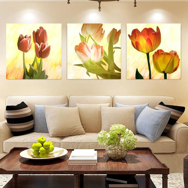 Nice Tulip Flower Wall Picture For Living Room. Canvas Prints With Different  Sizes At Competitive Price