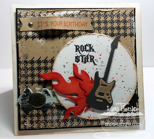 Document It - Rock On; Spring Backgrounds; Accent It - Rock and Roll Die-namics; Circle STAX Set 1 Die-namics; Sentiment Strips Die-namics - Lisa Henke