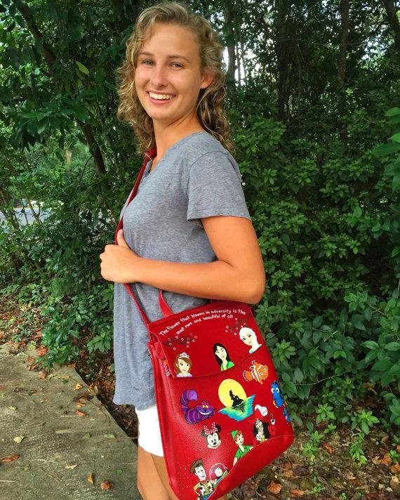 Disney Painted Backpack: Disney Shoulder Bag