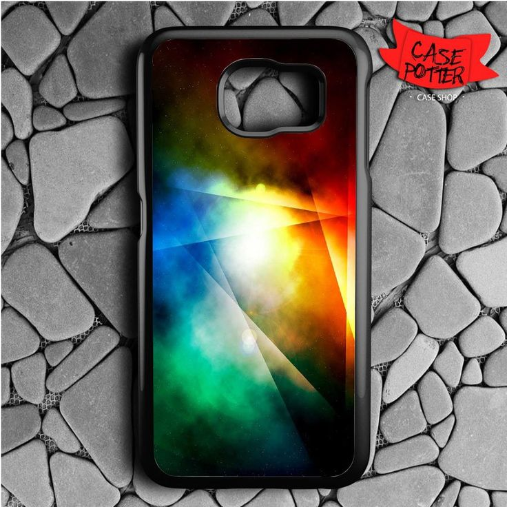 Outer Rainbow Space Samsung Galaxy S6 Black Case