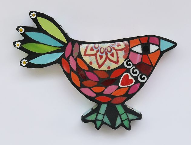 mosaic bird by Amanda Anderson