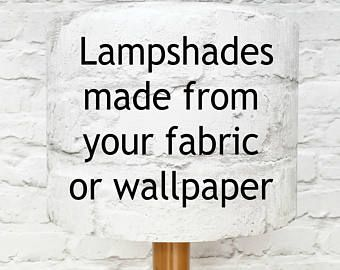 Lampshade made with your fabric or wallpaper - lampshade with your fabric - lampshade with your wallpaper - custom made lampshade