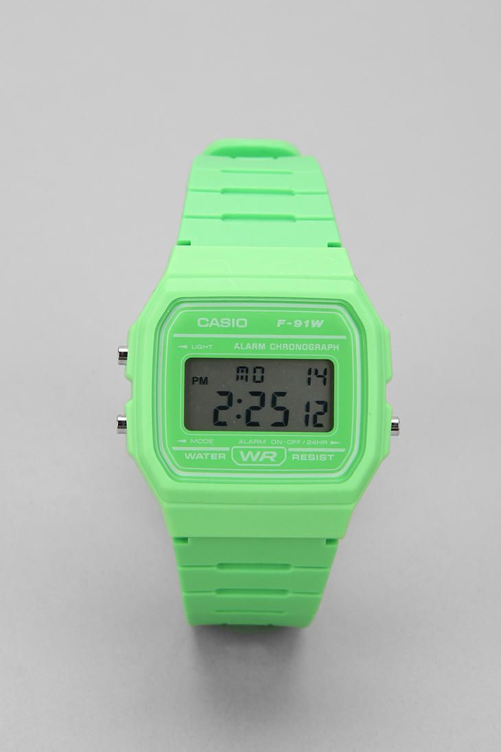 classic neon digital by casio made of plastic