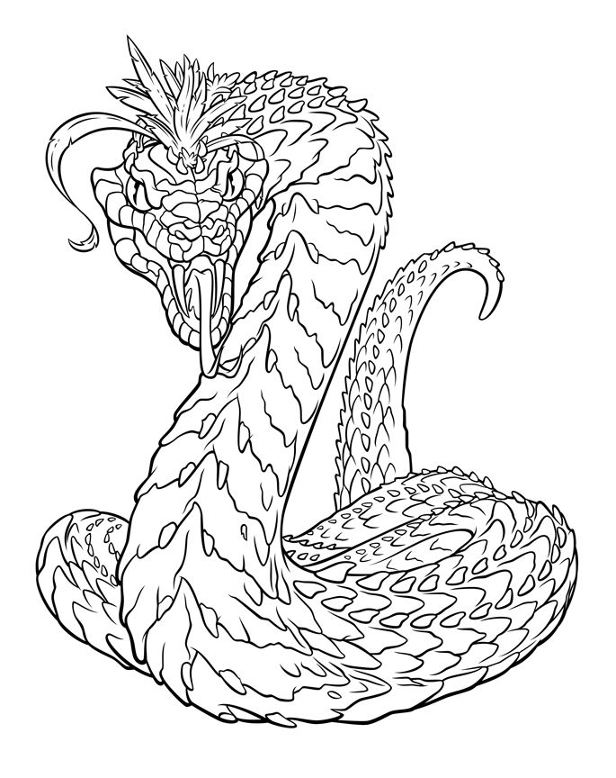 Basilisk Snake Harry Potter Coloring Pages