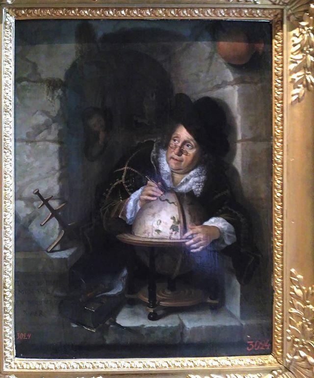 Bartholomeus Maton: de astronoom. Ca. 1656 - 1704. Hermitage, Sint Petersburg. Geïnspireerd op Gerard Dou: Astronoom in een venster. 1657