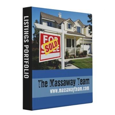 Real Estate Listings Portfolio Binder: Real Estates, Estates Stuff, Estates Lists