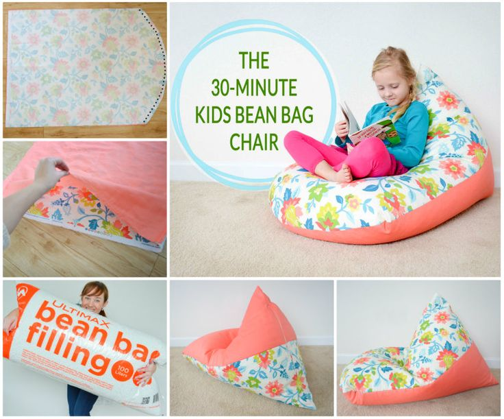 Make the kids a comfy Bean Bag in just 30 Minutes! This is an easy and handy DIY that takes no time at all.   Check out the Mattress Pillow Beds too.