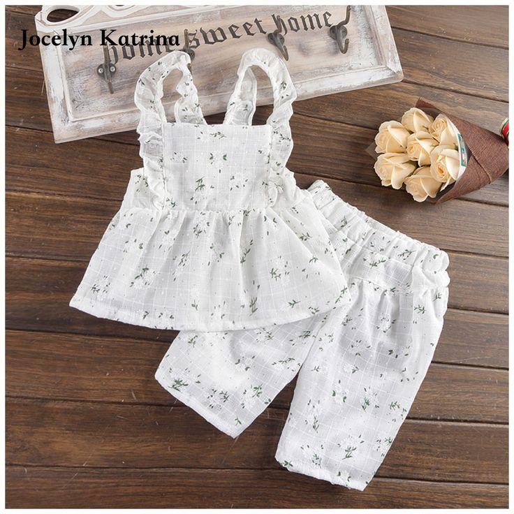 >> Click to Buy << Jocelyn Katrina New 2017 summer children girl clothing set baby girls sports costume kids clothing set suit #Affiliate