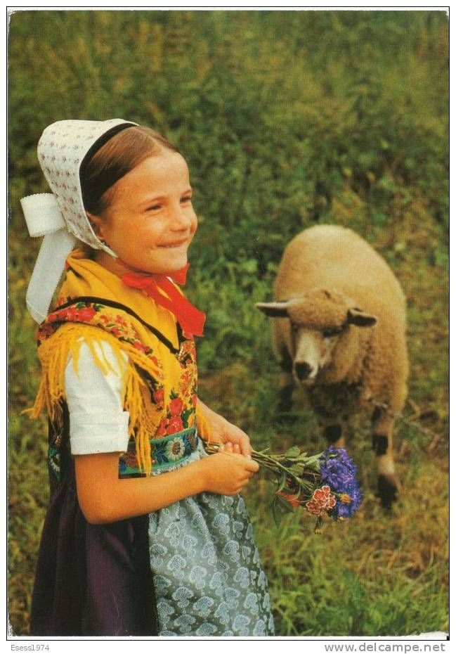 Sorbian girl in traditional costume, Germany