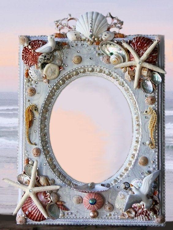 Buy Or Diy Seashell Mirrors Craft Beachseacoastal Pinterest