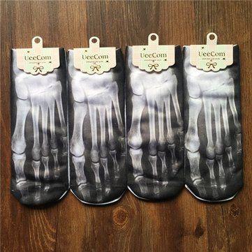 Men's Funny Devil Skull Paw Skeleton Design Cotton Socks Novelty Home Socks Ankle Socks Online - NewChic
